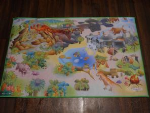 BARGAIN PRICE KIDS DINO PLAYMAT NON SLIP BACKING 100% POLYESTER 75X112CM CHEAP
